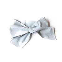 Baby Headwrap Slate Clouds