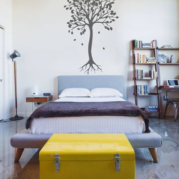 ik306 Wall Decal Sticker Decor tree with falling leaves kids bedroom