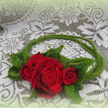 Felted fariy crown, hair wreath with felted flowers - customized hairband