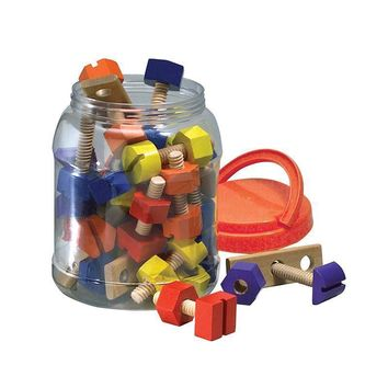 NUTS & BOLTS WOODEN 38CT