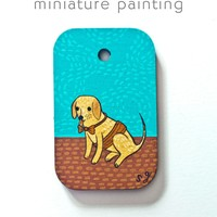 Fancy Dog Miniature Painting by Susie Ghahremani