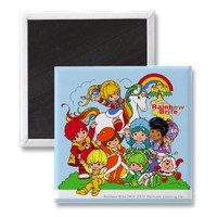 Rainbow Brite  her friends Fridge Magnet from Zazzle.com