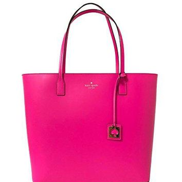 Kate Spade Karla Beech Street Smooth Leather Tote Shoulder Bag Purse Handbag (Peony Pink)