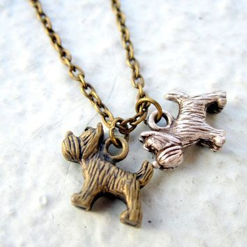 Dog Necklace Dog Jewelry Terrier Puppy SALE by pearlatplay