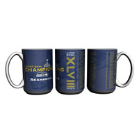 Super Bowl XLVIII 48 Champs Seattle Seahawks Roster Coffee Mug