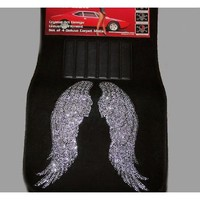 Angel Wings Crystal/Diamond/Rhinestone Bling Floor Mats