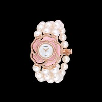 Watch in 18k pink gold, cultured pearls, opal and diamonds - J60690 - CHANEL