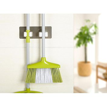 Wall Mounted Mop Organizer Holder Brush Broom Hanger Storage Rack Kitchen Tool Hanger wall hanging hooks Bathroom products