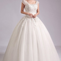 Chapel Bridal Lace Floorlenght Gown - Modest and Elegant