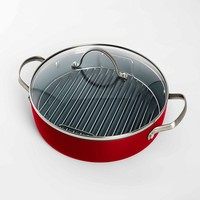Fiesta 2-pc. Nonstick Aluminum Healthy Grill Pan Set (Red)