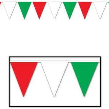 Outdoor Pennant Banner (Red, White, Green) - Style #702 Case Pack 12