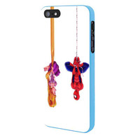 Disney Tangled And Spiderman iPhone 5 Case Framed Blue