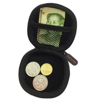 ESBONRZ Portable Mini Coin Purse PU EVA Box for Coins Earphone Headphone SD TF Cards Cable Cord Wire Storage Key Wallet Bag Coin Purses