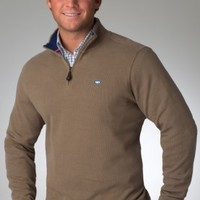 1/4 Zip Pullover Stripe Collar