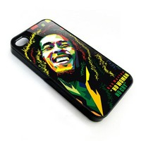 reggae legend bob marley art portrait apple iphone 4 4s case cover