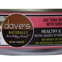 Dave's Naturally Healthy Tuna/Shrimp Can Cat 24/5.5oz