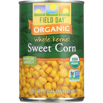 Field Day Sweet Corn - Organic - Whole Kernel - 15.25 oz - case of 12