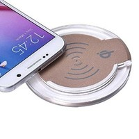 Galaxy S6/S6 Edge Plus Wireless Charger Charging Pad, Lookatool® Qi Wireless Charger Charging Pad For Samsung Galaxy S6/S6 Edge Plus (Gold)