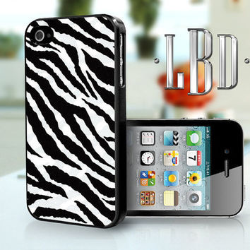 iPhone 4 4s Case - Zebra Print Full