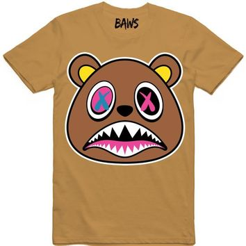 Crazy Baws Wheat Chutney Sneaker Tees Shirt
