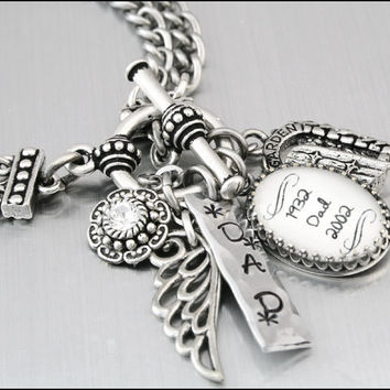 Memorial Custom Charm Bracelet Remembrance Jewelry Bracelets