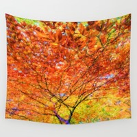 Autumn Delight Wall Tapestry by Lena Photo Art