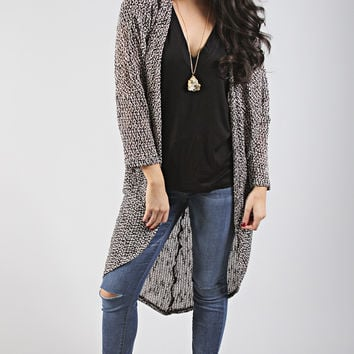 just friends tri-blend cardigan - mocha
