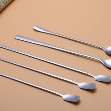 Premium Flatware, Stainless Steel Long Handle Bartending Mixed Stirring Spoon, Waterdrop shaped head, 26.2CM