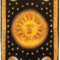 Sunset Meets Moonrise Tapestry
