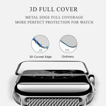 Apple Watch Series 3/2 Full Tempered Glass Screen Protector+TPU Case for 38/42mm