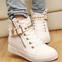 Leisure Natural Rubber women sneakers women boots running shoes woman pattern candy color women's skateboarding shoes [7898008455]