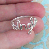 Single Ring in Sterling Silver by wirewrap on Etsy