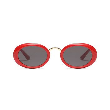 Saucy Oval Sunglasses | Red