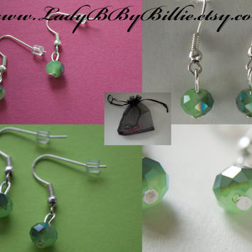 Emerald City Droplet Handmade Earrings