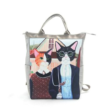 LL Ameowican Gothic Convertible Backpack