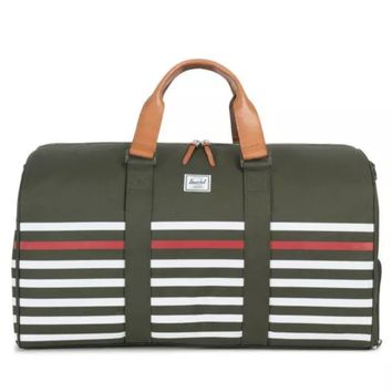 HERSCHEL FORREST GREEN OFFSET DUFFLE BAG