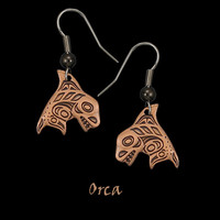 Copper Orca Whale Earrings by Copper Moon from Frederick Design