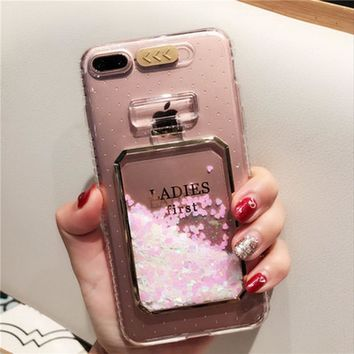 AiYvZ Quicksand Perfume Bottle Patterned back Case for Apple iPhone 6 7 s 6s Plus Phone Cases 4.7 5.5 inch Transparent Cover