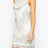 Needle & Thread Embellished Floral Cut Out Mini Dress