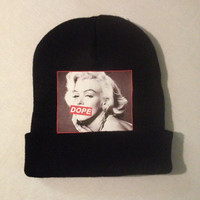 "KB ""Dope Monroe""---- Marilyn Monroe Dope Censored Stamp Beanie"