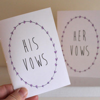 Wedding Vow Books With White Covers - His And Her Vow Books