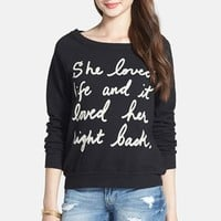 Project Social T 'She Loved Life' French Terry Sweatshirt (Juniors)