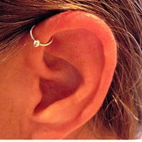 "No Piercing Sterling Silver Ear Cuff Helix Cuff ""Captive Ball"" Handmade Cartilage Cuff"