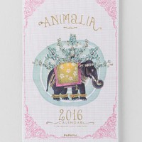 Gold Foil Animalia 2016 Wall Calendar