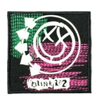 "BLINK 182 Smiley Logo Iron On Punk Rock Emroidered Patch 2.9""7.4cm x 2.9""/7.4cm By MNC Shop"