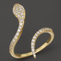 Khai Khai Diamond Serpent Ring in 18K Yellow Gold, .45 ct. t.w.