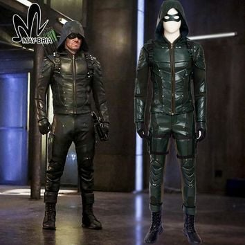 Green Arrow season 5 cosplay costume Adult men fancy Halloween costumes Oliver Queen G