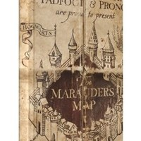 The Marauders Map Harry Potter iPhone 5 / 5S protective case (image shows iPhone 4 example)