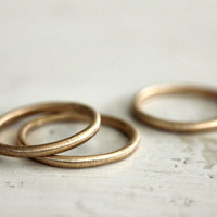 A simple gold band. 18k. Rustic love. A gold ring. Sophie.