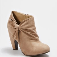 Taupe Wrapped Bow Shootie